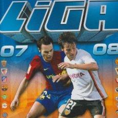 Coleccionismo deportivo: LIGA 2007- 2008 - CONTIENE 410 BÁSICOS + COLOCAS Y 34 ÚTIMOS FICHAJES. Lote 112841339