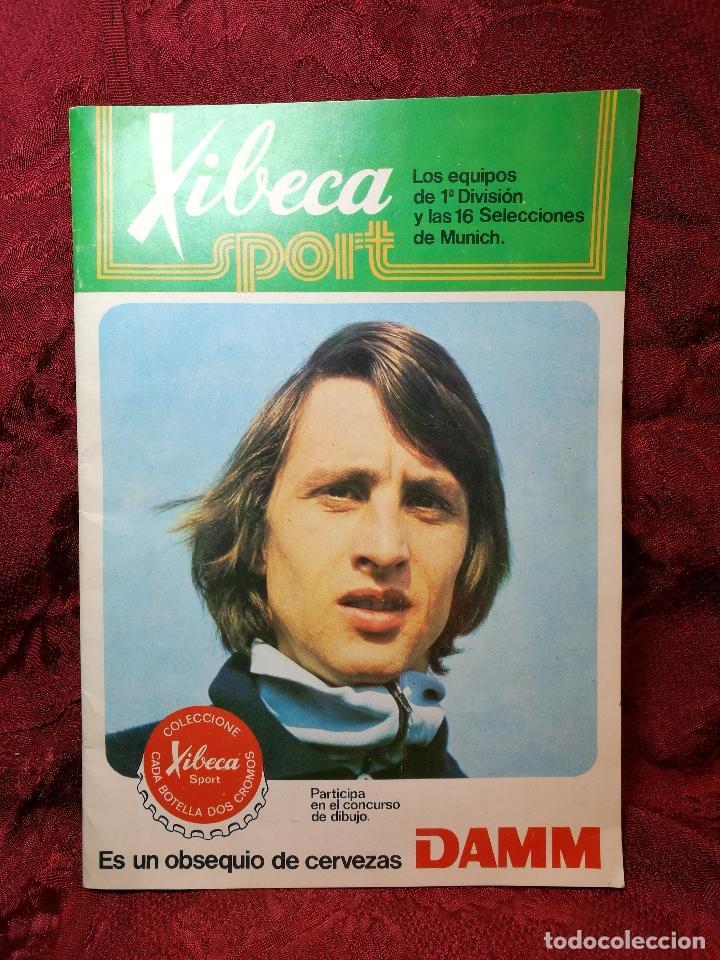 XIBECA SPORT. ALBUM FUTBOL. AÑO 1973-74 CERVEZAS DAMM. VACIO. ESTADO IMPECABLE (Coleccionismo Deportivo - Álbumes y Cromos de Deportes - Álbumes de Fútbol Incompletos)