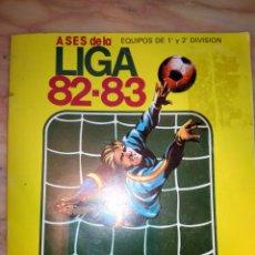 Coleccionismo deportivo: DIFICIL ALBUM ASES DE LA LIGA 82 83 EDITORIAL PLADEMER VACIO PLANCHA. Lote 116132742