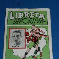Coleccionismo deportivo: ALBUM LIBRETA DEPORTIVA , CISNE 1942, FALTAN 29 CROMOS, 2 DIVISION , SEÑALES DE USO. Lote 116550763