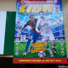 Coleccionismo deportivo: ÁLBUM DE FÚTBOL DE LA LIGA. EDICIONES ESTE. TEMPORADA 2017-18. CON 6 CROMOS. Lote 117035795