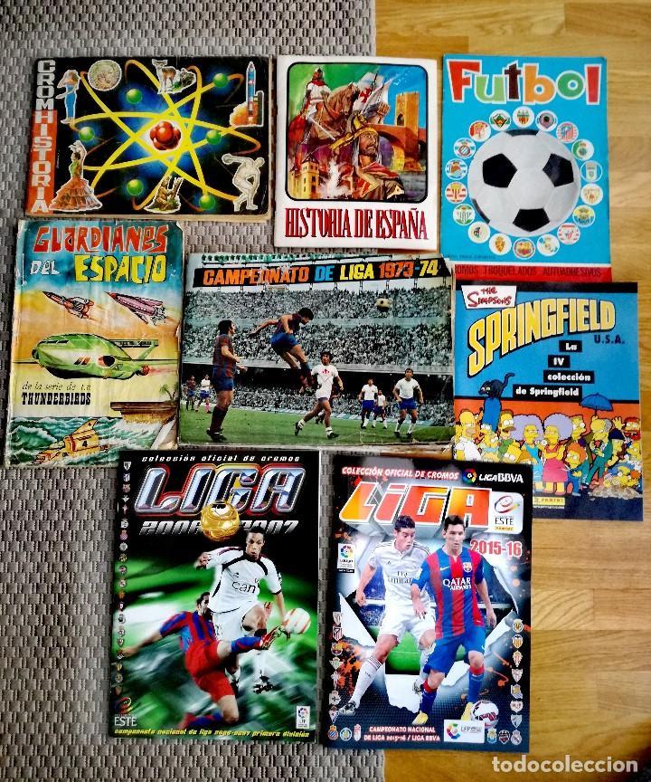 LOTE ÁLBUMES LIGA 1973/FÚTBOL/GUARDIANES DEL ESPACIO (Coleccionismo Deportivo - Álbumes y Cromos de Deportes - Álbumes de Fútbol Incompletos)