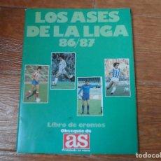 Coleccionismo deportivo: ALBUM PLANCHA CROMOS FUTBOL LOS ASES DE LA LIGA 86 87 VACIO - DIARIO AS 1986 1987. Lote 117590467