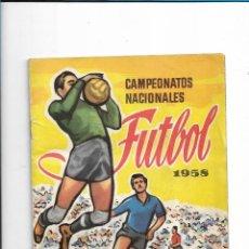 Coleccionismo deportivo: CAMPEONATOS NACIONALES FUTBOL 1958 . Lote 117678227
