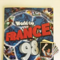 Coleccionismo deportivo: ÁLBUM FRANCE 98 DS STICKER COLLECTIONS INCOMPLETO + 14 REPETIDOS. Lote 118645875