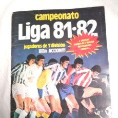 Coleccionismo deportivo: ALBUM DE CROMOS CAMPEONATO LIGA 81-82 DE EDICIONES ESTE . Lote 118648227