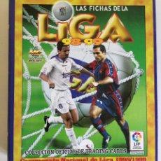 Coleccionismo deportivo: ÁLBUM ARCHIVADOR LAS FICHAS DE LA LIGA 98/99 LFP 81 FICHAS MUNDI CROMO . Lote 118956695