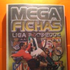 Coleccionismo deportivo: COLECCION PANINI MEGAFICHAS LIGA 03/04 - ALBUM ARCHIVADOR + 215 FICHAS TEMPORADA 2003/2004 MEGA. Lote 119038275