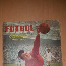 Coleccionismo deportivo: ALBUM FUTBOL LIGA 1959 1960 59 60 FERCA FALTAN 11 CON 2 DOBLES. Lote 119100316