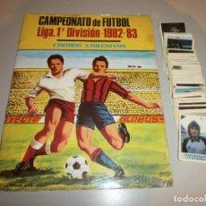 Coleccionismo deportivo: ALBUM CAMPEONATO DE FUTBOL LIGA 1ª DIVISION 1982 83 JIMENEZ GODOY SOLO A FALTA DE 3 CROMOS. Lote 119448271