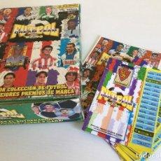 Coleccionismo deportivo: LOTE 12 ÁLBUMES FÚTBOL DREAM TEAM 97-98 + CAJA CHICLES + ADHESIVO PANINI VIDAL. Lote 120822291