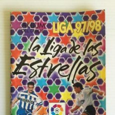 Coleccionismo deportivo: ÁLBUM CHICLE LIGA 97/98 CON 81 CROMOS PEGADOS. Lote 120828943