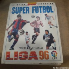 Coleccionismo deportivo: ÁLBUM SUPER FÚTBOL 96 SPORT MUNDI CROMO CASI COMPLETO. Lote 121293348