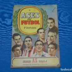 Coleccionismo deportivo: ALBUM ASES DEL FUTBOL 1 DIVISION , CROMOS AS , BRUGUERA , FALTAN 16 CROMOS . Lote 121791503