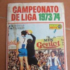 Coleccionismo deportivo: ALBUM DE CROMOS , ESTE , CAMPEONATO DE LIGA 1973 -74 , VER FOTOS DE TODAS LAS PAGINAS. Lote 121854931