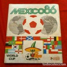 Coleccionismo deportivo: MEXICO 86 ALBUM CROMOS FUTBOL (AÑO 1986) ED. PANINI - INCOMPLETO CON 396 CROMOS - WORLD CUP MUNDIAL. Lote 122311983