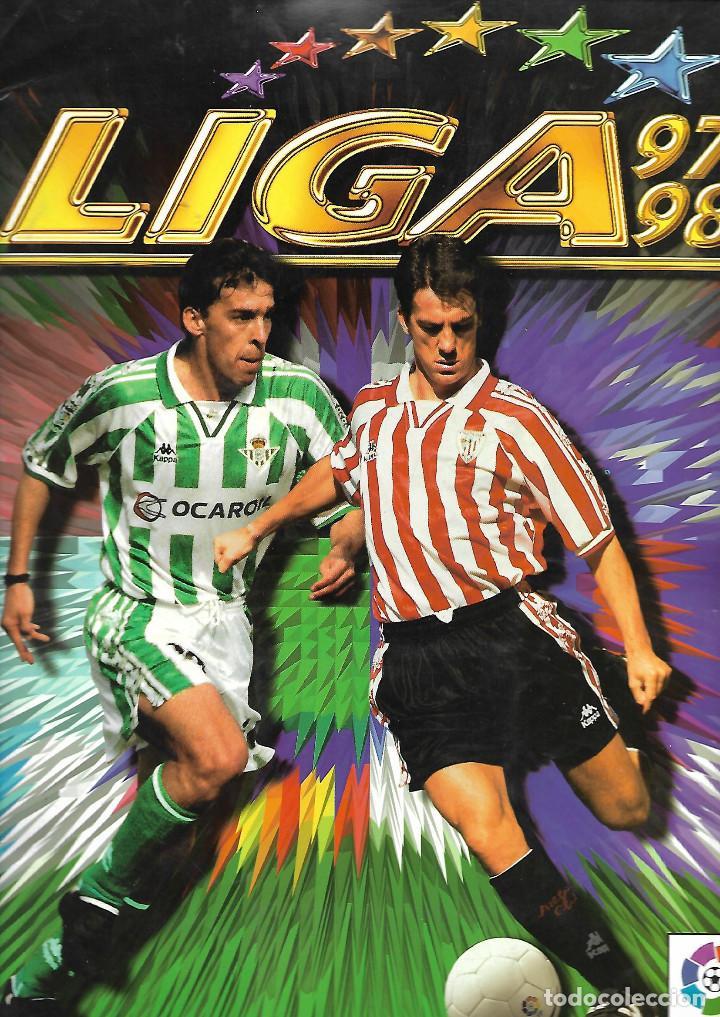 ALBUM DE LA LIGA 97/98 CON 489 CROMOS COLECCION ESTE (Coleccionismo Deportivo - Álbumes y Cromos de Deportes - Álbumes de Fútbol Incompletos)