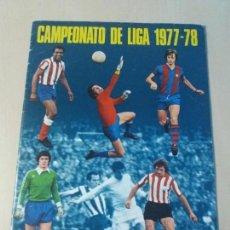 Coleccionismo deportivo: ALBUM DE CROMOS CAMPEONATO DE LIGA 1977 - 78 DISGRA, ED. FHER, CASI PLANCHA 21 CROMOS CON POSTER. Lote 122738791