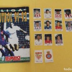 Coleccionismo deportivo: ALBUM - LIGA FUTBOL 91-92 DE BIMBO - CONTIENE CROMOS SIN PEGAR - INCOMPLETO. Lote 122760871