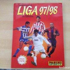 Coleccionismo deportivo: ALBUM LIGA 97/98 DE PANINI,1997-1998 EN BUEN ESTADO Y CON CROMOS PARA PEGAR.. Lote 122878335