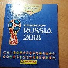 Coleccionismo deportivo: FIFA WORLD CUP, COPA DEL MUNDO DE FUTBOL, RUSIA 2018, ALBUM CROMOS VACIO PLANCHA PANINI. Lote 122885135