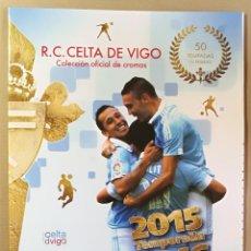 Coleccionismo deportivo: ALBUM SIN CROMOS VACIO R C CELTA DE VIGO LIGA 2015 2016 15 16 FARO DE VIGO. Lote 123037119
