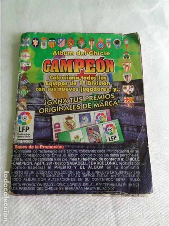 ALBUM DEL CHICLE CAMPEON LFP LIGA 96 97 1996 1997 ( CONTIENE 219 CROMOS ) (Coleccionismo Deportivo - Álbumes y Cromos de Deportes - Álbumes de Fútbol Incompletos)