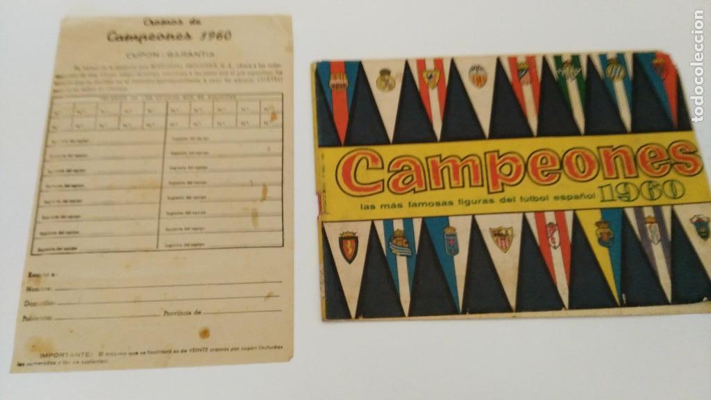 ALBUM CAMPEONES LAS MAS FAMOSAS FIGURAS DEL FUTBOL ESPAÑOL 1960 , EDT BRUGUERA 1959- FALTAN 56 (Coleccionismo Deportivo - Álbumes y Cromos de Deportes - Álbumes de Fútbol Incompletos)