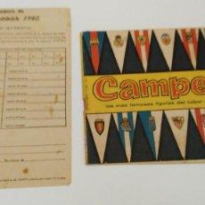 Coleccionismo deportivo: ALBUM CAMPEONES LAS MAS FAMOSAS FIGURAS DEL FUTBOL ESPAÑOL 1960 , EDT BRUGUERA 1959- FALTAN 56 . Lote 124049451