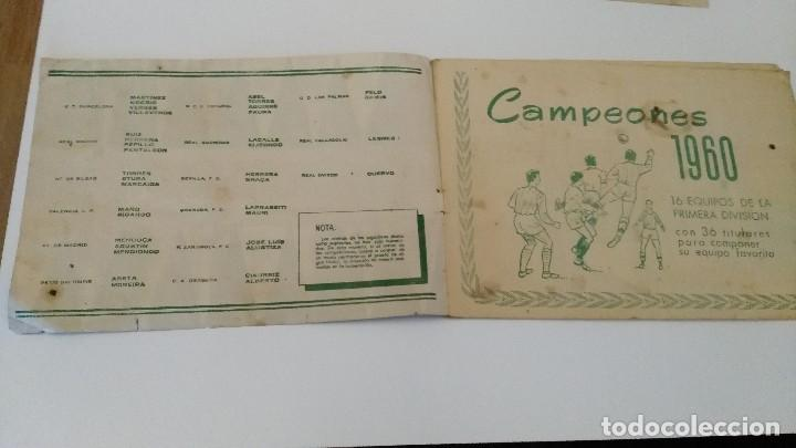 Coleccionismo deportivo: ALBUM CAMPEONES LAS MAS FAMOSAS FIGURAS DEL FUTBOL ESPAÑOL 1960 , EDT BRUGUERA 1959- faltan 56 - Foto 2 - 124049451