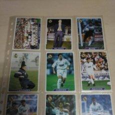 Coleccionismo deportivo: LOTE 23 CROMOS REAL MADRID. FICHAS OFICIALES LIGA 96. FUTBOL. MUNDICROMO MC. VER FOTOS. Lote 124332491