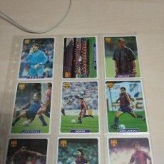 Coleccionismo deportivo: LOTE 13 CROMOS F.C. BARCELONA. FICHAS OFICIALES LIGA 96. FUTBOL. MUNDICROMO MC. BARÇA VER FOTOS. Lote 124332655