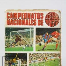 Coleccionismo deportivo: ÁLBUM CROMOS INCOMPLETO - CAMPEONATOS NACIONALES DE FÚTBOL 1971-1972 - FALTAN 9 CROMOS - RUIZ ROMERO. Lote 124419575