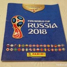Coleccionismo deportivo: ÁLBUM PANINI SIN CROMOS PEGADOS DEL MUNDIAL DE FÚTBOL RUSIA 2018 - 80 PÁGINAS - PESO: 201 GRAMOS. Lote 125030891