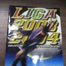 Coleccionismo deportivo: ALBUM INCOMPLETO. LIGA 2003- 2004. POCOS CROMOS. COLECCIONES ESTE. 34 X 24,5 CM.. Lote 125031579