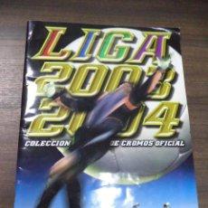Coleccionismo deportivo: ALBUM INCOMPLETO. LIGA 2003- 2004. POCOS CROMOS. COLECCIONES ESTE. 34 X 24,5 CM.. Lote 125031803
