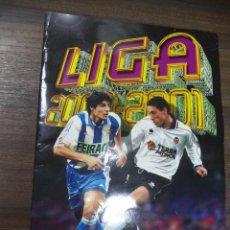 Coleccionismo deportivo: ALBUM INCOMPLETO. LIGA 2000- 2001. POCOS CROMOS, VER FOTOS. COLECCIONES ESTE. 34 X 24,5 CM.. Lote 125036275