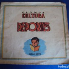 Coleccionismo deportivo: (F-180651)ALBUM SEXTO CROMOS CULTURA DEPORTES FUTBOL-ZARAGOZA,OSASUNA,MURCIA,MALACITANO,CADIZ,ALAVES. Lote 125154199