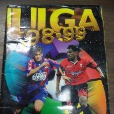 Coleccionismo deportivo: ALBUM INCOMPLETO. LIGA 98- 99. FALTAN 10 FICHAJES. DOBLES Y COLOCA. COLECCIONES ESTE. 34 X 24,5 CM.. Lote 125263799