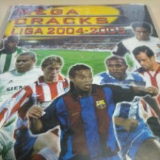 Coleccionismo deportivo: MEGACRACKS LIGA 2004-2005. PANINI. FUTBOL. ALBUM INCOMPLETO 377 CROMOS. TRADING CARDS. Lote 125278775