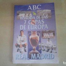 Coleccionismo deportivo: ALBUM HISTORIA DE LAS 7 COPAS DE EUROPA DEL REAL MADRID - ABC 1998. Lote 126020135