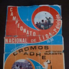 Coleccionismo deportivo: EDICIONES SURESTE LIGA 1979-80 FALTAN 4 DE LOS 75 CROMOS VER FOTOS PARA ESTADO. Lote 126100187