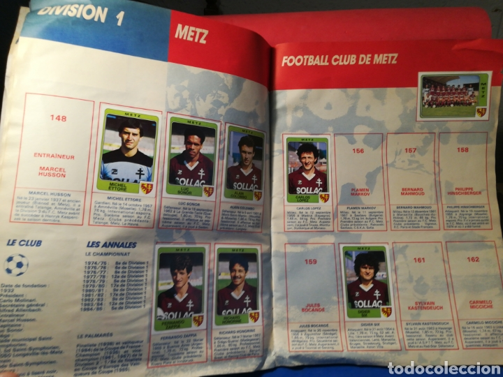 Coleccionismo deportivo: Álbum de cromos fútbol francés temporada 1985-86 (189 de 474 cromos) Panini, 1985 - Foto 14 - 126219732