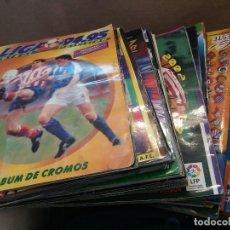 Coleccionismo deportivo: LOTE ALBUMES ALBUM ESTE. 18 TEMPORADAS. DESDE LA 94/95 A 13/14. LEER DESCRIPCIÓN. Lote 126395151