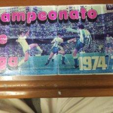 Coleccionismo deportivo: ALBUM FUTBOL PIPAS TOSTAVAL. CAMPEONATO DE LIGA 1974/75 CASI COMPLETO. FALTAN 6 DE 35. Lote 126429023
