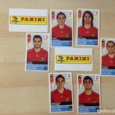 Coleccionismo deportivo: EUROCOPA 2008, 6 CROMOS EXTRAS DE ESPAÑA,PANINI EURO 2008. Lote 127010363