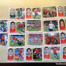 Coleccionismo deportivo: ALBUM CROMOS LIGA ,MUNDIAL 2010,ESPAÑA CAMPEONES DEL MUNDO,LOTE DE 18 CROMOS DIFERENTES. Lote 127488187