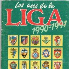 Coleccionismo deportivo: ALBUM LOS ASES DE LA LIGA1990-1991, FALTAN 8 CROMOS, INCOMPLETO. Lote 127546891