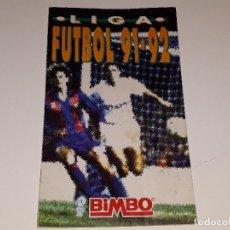 Coleccionismo deportivo: ANTIGUO ALBUM DE CROMOS LIGA DE FUTBOL 91 - 92 1991 - 1992 REGALO PROMOCIONAL DE BIMBO - VACIO. Lote 128033787