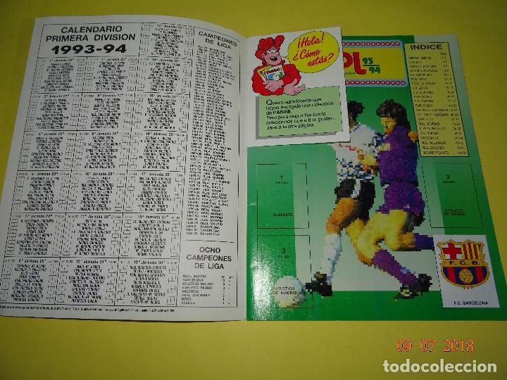 Coleccionismo deportivo: Antiguo Álbum Plancha de Futbol - Estrellas de la Liga 93-94 de PANINI - Foto 3 - 128295119